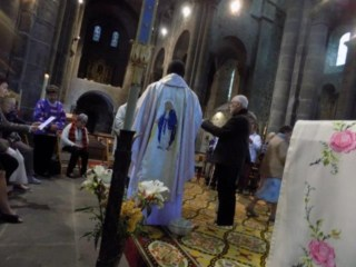 Mass in Orcival, France