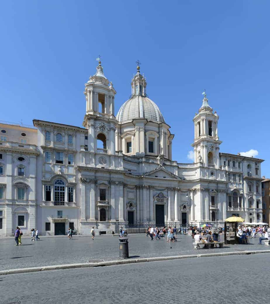 Rome The Church Of Saint Agnes In Agony Santagnese In