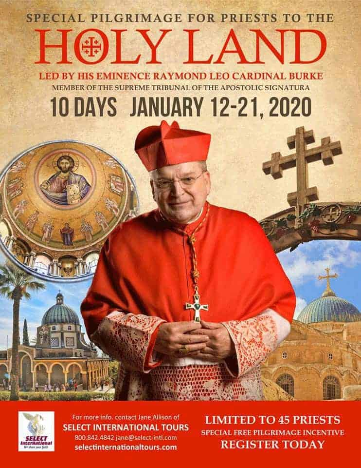Special Pilgrimage for Priests to the Holy Land Led by His ...