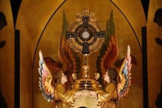 Monstrance in the chapel of Our Lady of Solitude Monastery in Tonopah, Arizona