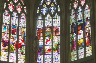 Srained glass windows in Cathedral Basilica of the Assumption in Covington, Kentucky