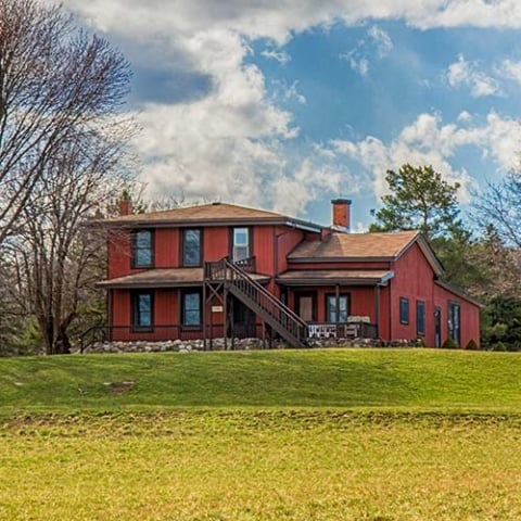 The Nazareth House is one of two housee available for retreats at the Monastery of the Genesee in Pifford, N.Y.