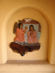 One of the sculptures made by Sister Esther at Santa Rita Abbey in Sonoita Arizona