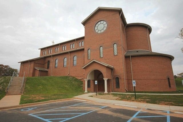 Exterior of Our Lady of the Rosary Catholic Church Greenville, South Carolina