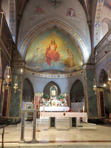 The altar & mirculous icon of our lady of perpetual help at the Church of St. Alphonsus Liguori in Rome