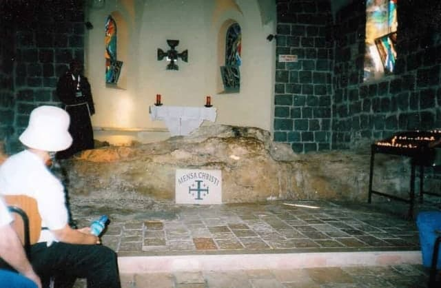 The rock at the Church of Mensa Christi