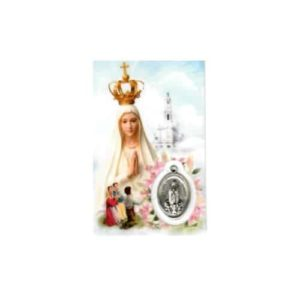 100 Years of Fatima Prayer Card and Medal