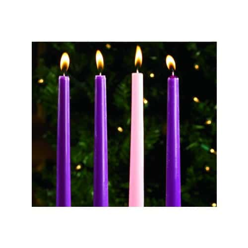 """Advent Candles Set of 4 - 10"""" x 7/8"""""""