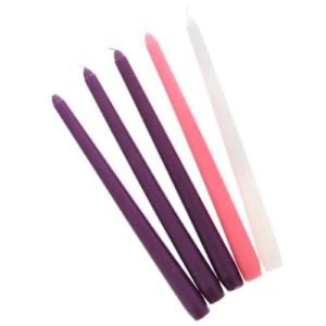 """Advent Candles Set of 5 - 10"""" x 3/4"""""""