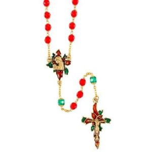 Christmas Poinsettia Rosary