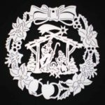 Laser Cut Wreath Italian Nativity Ornament