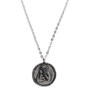 Madonna del Ghisallo Medal with Chain, Handmade Pewter