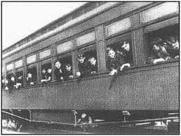 Boys on one of the Orphan Trains