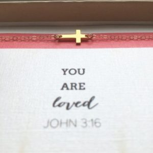 """You Are Loved"" Cross Necklace - Gold"