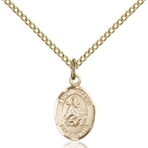 14kt Gold Filled St. William of Rochester Petite Pendant