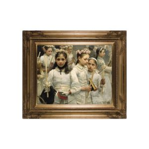 After the First Communion on Canvas w/ Gold Museum Frame)