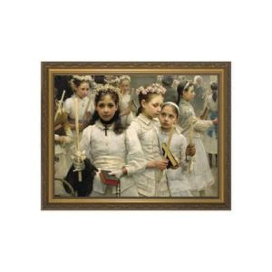 After the First Communion w/ Gold Frame