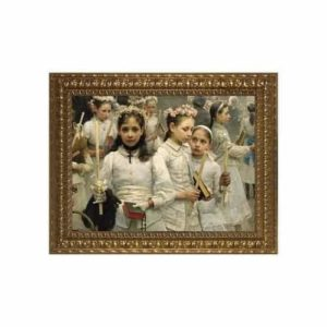 After the First Holy Communion w/ Ornate Gold Frame