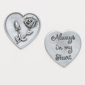 Always In My Heart Rose Pocket Token