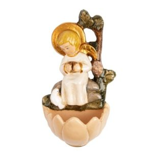 Angel with Dove Holy Water Font