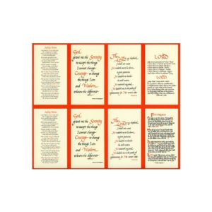 Assorted Prayers Personalized Prayer Card (Priced Per Card)