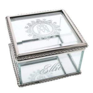Ave Maria Glass Keepsake Box