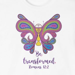 """""""Be Transformed"""" First Communion T-Shirt for Girls"""