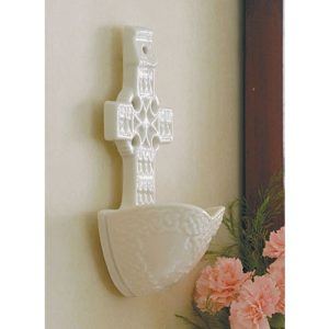 Belleek Celtic Cross Water Font