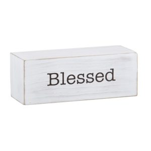 Blessed Decorative Wood Block