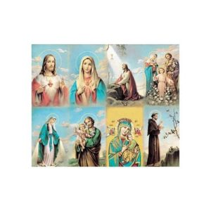 Bonella Series 5 Personalized Prayer Card - Assorted Subjects (Priced Per Card)