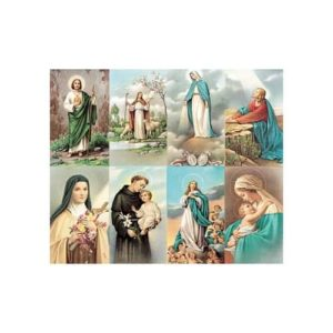 Bonella Series 8 Personalized Prayer Card - Assorted Subjects (Priced Per Card)