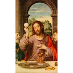 Christ with Eucharist Personalized Prayer Card (Priced Per Card)