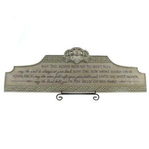 Claddagh Irish Blessing Over the Door Plaque