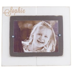 Cream and Chocolate Brown Personalized Frame