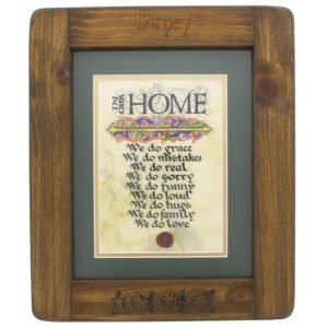 """In our home..."" Framed Print"
