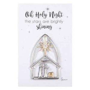 Miniature Two Tone Standing Nativity