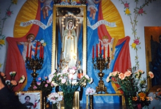 Altar in the Shrine of Our Lady of the Mystical Rose in Montichiari Italy