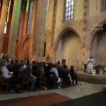The Jacobin Conent in Toulouse: Father John, Father Casey, and Deacon John began the Mass