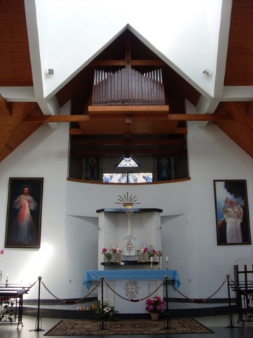 Interior of the Chapel of Divine Mercy in Suodziah