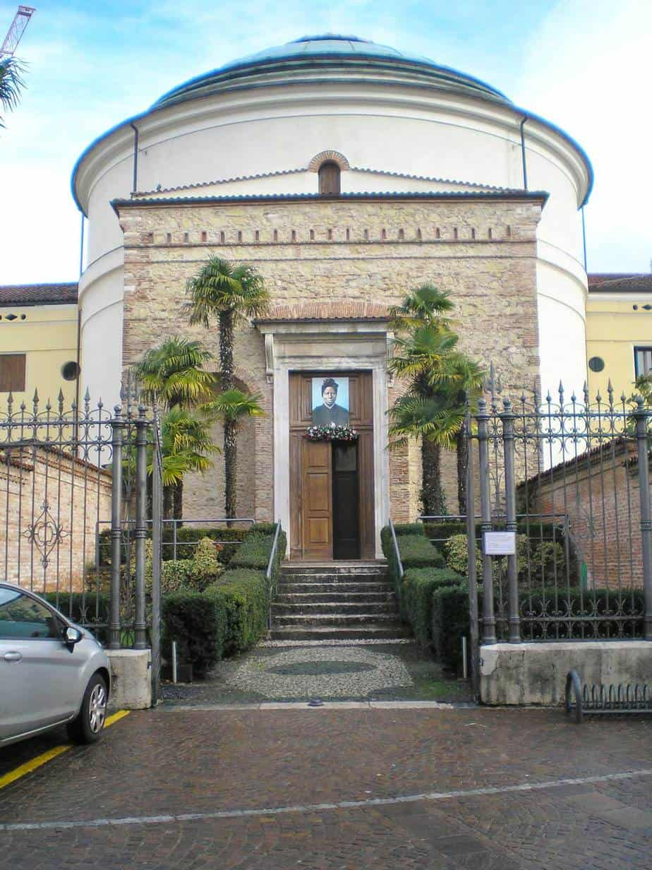 Exterior of the curch is schio, Italy where tomb of St. Bakhita lies