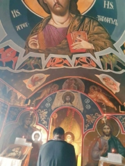 Mass in the airport chapel in Bucharest