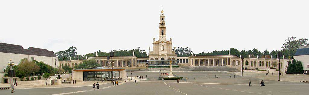 Overall view of the Sanctuary at Fatima, Portugal