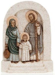 Holy Family Bas relief hand made by the Nuns from the Monastic Family of Bethlehem of the Assumption of the Virgin ans Saint Bruno