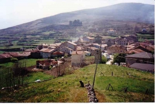"""The village of Garabandal..with """"the Pines"""" in the background"""