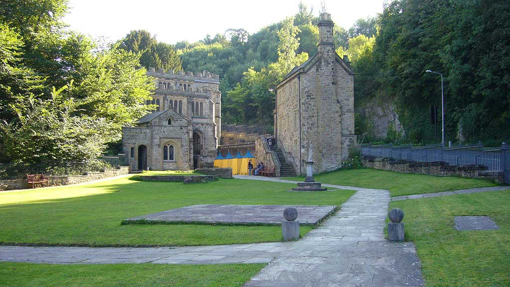 View of the Shrine of St. Winifried in Wales